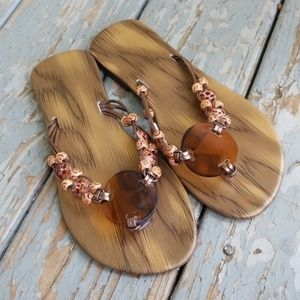 Shoes - ➡️3 for $20 ❤ Boho Style beaded sandals